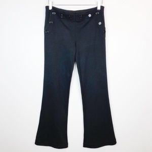 Tory Burch Black Trousers Flared Slacks Size 4